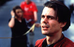 Tom Tykwer on set of Run Lola Run